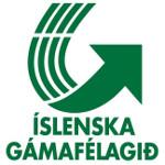 Logo Íslenska gámafélagsins og hlekkur á heimasíðu