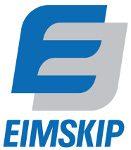 Logo Eimskipa og hlekkur á heimasíðu