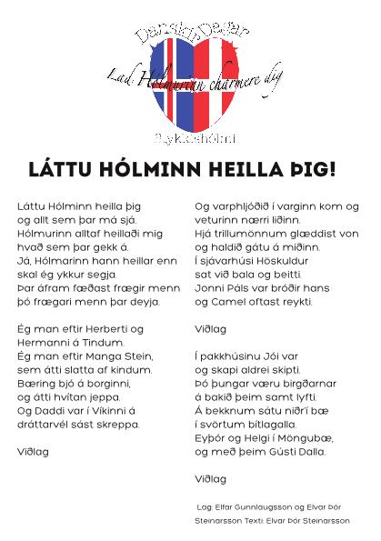 Textinn við lagið Láttu Hólminn heilla þig