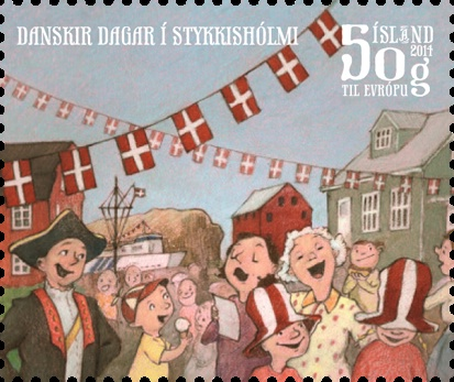 Bæjarhátíðin Danskir dagar fær frímerki