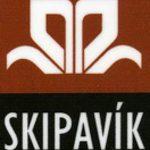 Logo Skipavíkur og hlekkur á heimasíðu